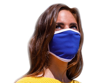 Air Soul MP7923FM Blue and White Protective Face Mask with Optional Filter Pocket