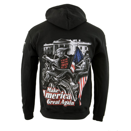 Biker Clothing Co. BCC118012 'Make America Great Again' Motorcycle Hoodie