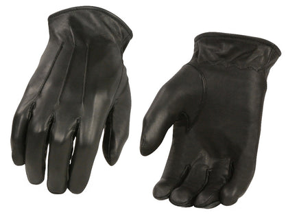 M Boss Motorcycle Apparel BOS37533 Men's Black Welted Thermal Lined Leather Gloves