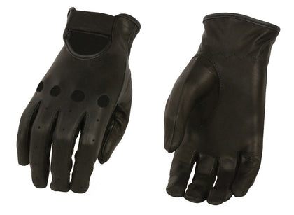M Boss Motorcycle Apparel BOS37535 Ladies Black Unlined Classic Leather Driving Gloves