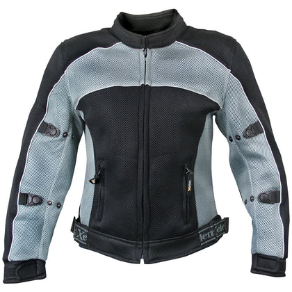 Xelement CF507 Women's Black and Grey Mesh Jacket with Advanced Level-3 Armor