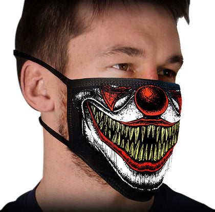 Milwaukee FMD1016 'Clown Teeth' 100 % Cotton Protective Face Mask with Optional Filter Pocket