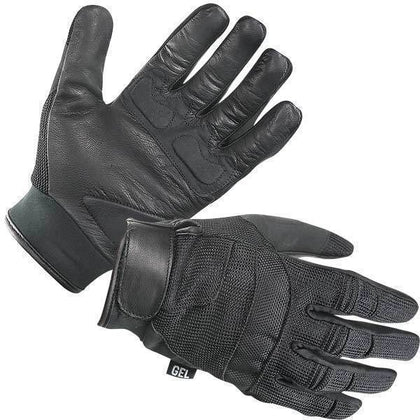 Xelement XG879 Men's Black Mesh and Leather Motorcycle Gloves
