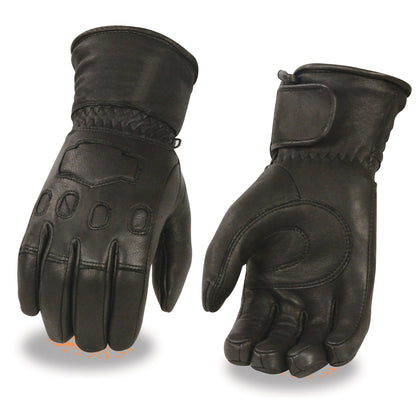 Milwaukee Leather G034 Mens Deerskin Leather Thermal Lined Gauntlet Glove