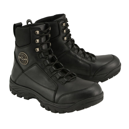 Milwaukee Leather MBM9081 Men's Lace-Up Tactical Leather Boots