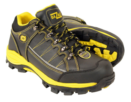 Bazalt MBM9121ST Men's Black and Yellow Water and Frost Proof Leather Outdoor Shoes with Composite-Toe