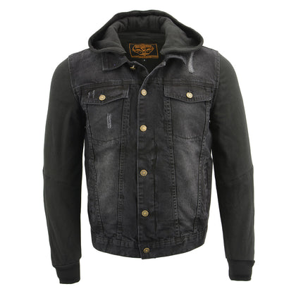 Milwaukee Performance MDM1000 Men's Black Denim Jacket with Removable Hoodie