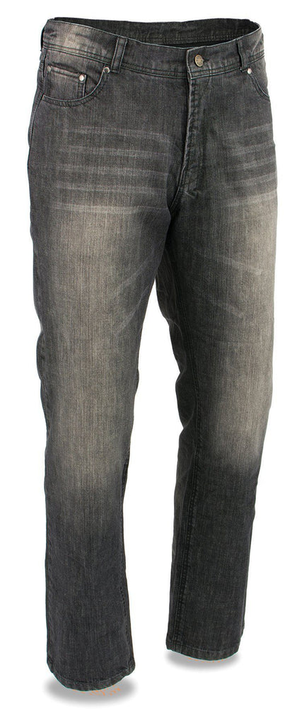 Milwaukee Leather MDM5000 Men's Black Armored Denim Jeans Reinforced w/ Arami By Dupont Fibers