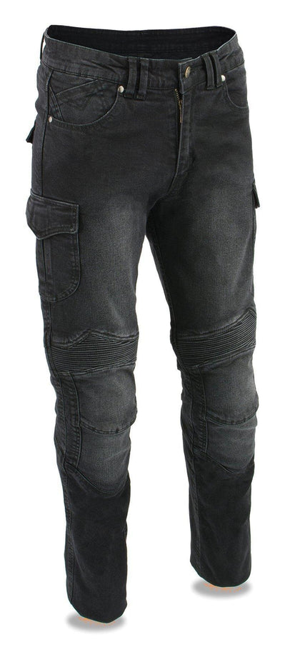 Milwaukee Performance MDM5010 Men's Black Armored Straight Cut Denim Jeans Reinforced with Aramid by DuPont Fibers