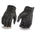 Milwaukee Leather MG7501 Men's Black Leather Gloves with Rubberized Knuckles