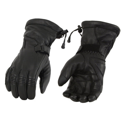 Milwaukee Leather MG7518 Men's Black Deerskin Leather Gauntlet Gloves