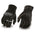 Milwaukee Leather MG7540 Men's 'Hard Knuckles' Black Leather Racer Gloves with Elasticized Fingers