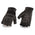 Milwaukee Leather MG7548 Men's 'Reflective' Black Fingerless Leather and Mesh Gloves with Gel Palm