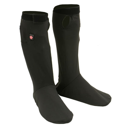 Milwaukee Leather MP7905 Mens Heated Sock Liners with top and Bottom Heating Elements Battery Pack Included