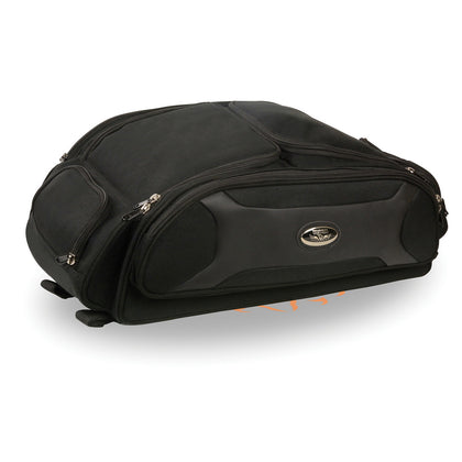 Milwaukee Leather Performance MP8107  Black Long Textile Trunk Rack Travel Bag