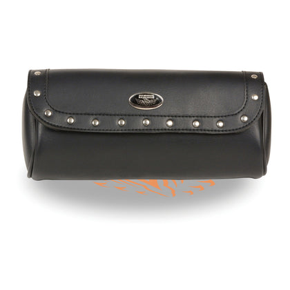 Milwaukee Leather Performance MP8510 Black PVC Tool Bag with  Rivet Detailing and Velcro Closure