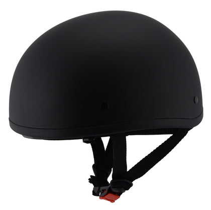 Milwaukee Performance Helmets MPH9850N Novelty 'Air Stream' Matte Black Half Helmet with Drop Down Tinted Visor