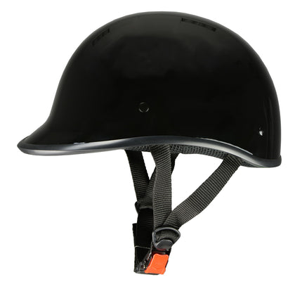Milwaukee Performance Helmets MPH9860N 'Derby' Novelty Glossy Black Half Helmet