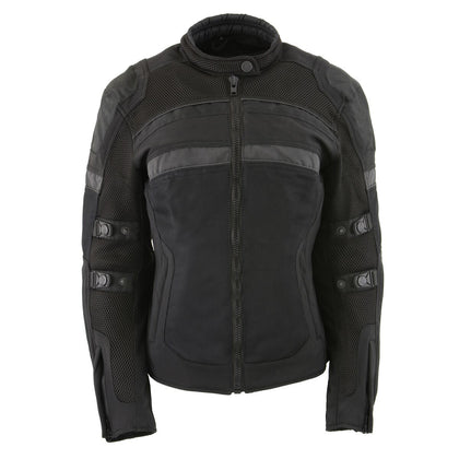 Milwaukee Performance MPL2775 Ladies Black Armored Textile and Mesh Racing Jacket