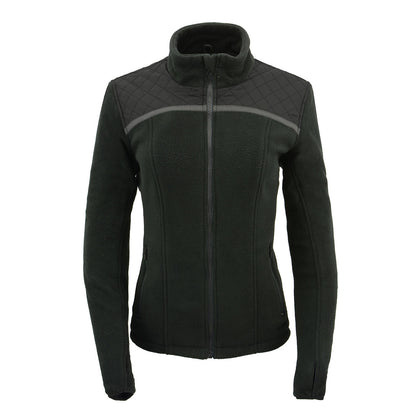 Milwaukee Performance MPL2784 Women Black Micro Fleece Zipper Front Jacket with Reflective Stripes