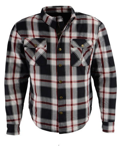 Milwaukee Performance MPM1625 Men's Armored Flannel Biker Shirt with Aramid® by DuPont™ Fibers