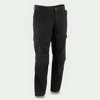 Milwaukee Leather MPM5591 Men's Armored Black Cargo Jeans Reinforced with Aramid by DuPont Fibers