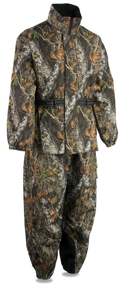 Milwaukee Leather MPM9520 Men's Mossy Oak Camouflage Rain Suit with Reflective Piping