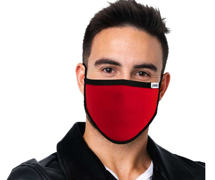Air Soul MP7923FM Black and Red Protective Face Mask with Optional Filter Pocket