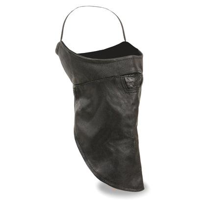 Milwaukee Leather SH163 Unisex Premium Leather Face Mask with Fleece Liner