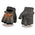 Milwaukee Leather SH198 Men's Black and Orange Flamed Embroidered Fingerless Leather Gloves