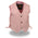 Milwaukee Leather SH2011LPNK Girls Pink Classic Three Snap Leather Vest