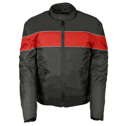 NexGen Men's SH212104 Black and Red Nylon Racer Jacket