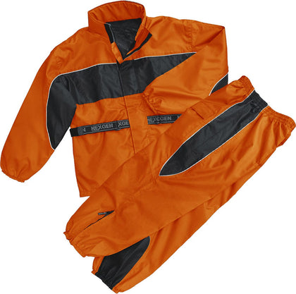 NexGen Ladies SH221602 Orange and Black Water Proof Rain Suit