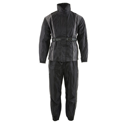 NexGen Ladies SH222503 Black and Grey Hooded Water Proof Rain Suit