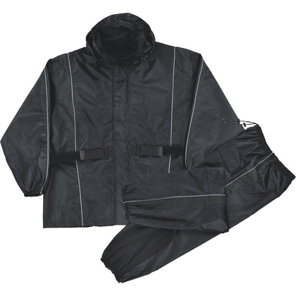 Milwaukee Performance SH2225L Ladies Black Water Resistant Rain Suit with Reflective Piping