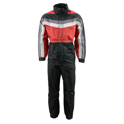 NexGen Men's SH2226 Black and Red Hooded Water Proof Rain Suit