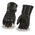 Milwaukee Leather SH232 Men's 'Suede Palm' Black Leather Gauntlet Gloves with Rain Mitton