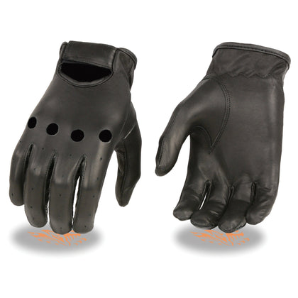 Milwaukee Leather SH247 Men's Black Unlined Leather Classic Style Driving Gloves