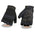 Milwaukee Leather SH44610 Men's Black Textile Fingerless Mechanics Gloves with Amara Bottom