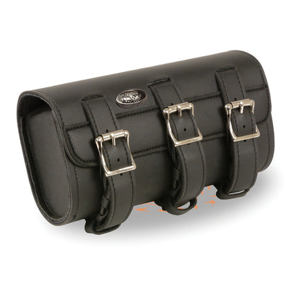 Milwaukee Leather Performance SH49803 Black Large Two Buckle  PVC Tool Bag with Quick Release