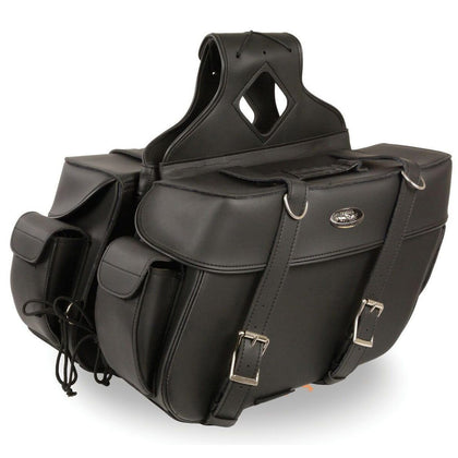 Milwaukee Performance SH57401ZB Black Large Zip-Off PVC Throw Over Saddlebags