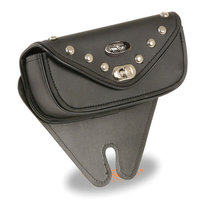 Milwaukee Performance SH67103 Black Small Single Pocket Studded Windshield Mount Bag with Turn Clasp