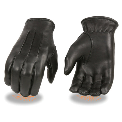 Milwaukee Leather SH865 Men's Black Welted Deerskin Thermal Lined Gloves