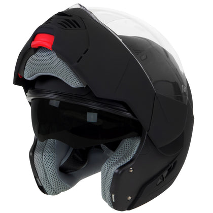 Hawk ST 1197 'InFlux' Matte Black 2 in 1 Modular Motorcycle Helmet