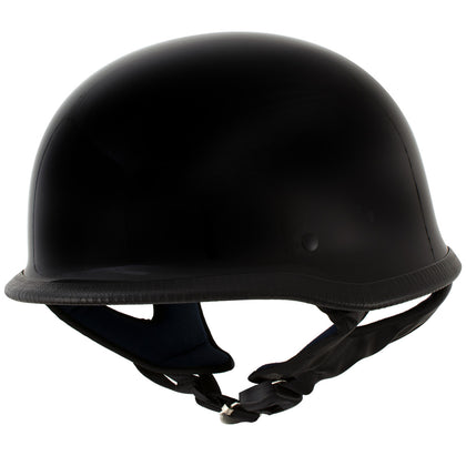 Outlaw T-75 'The Hanz' German Style Gloss Black Advanced Motorcycle Half Helmet