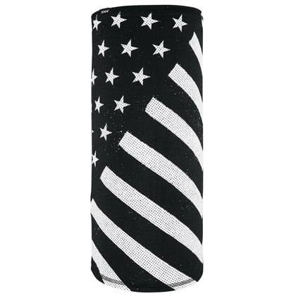 Zan Headgear TL091 Motley Tube, SportFlex Series, Black & White Flag