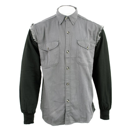NexGen DM4444 Men's Grey and Black Long Sleeve Button Shirt