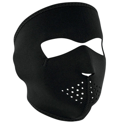 Zan Headgear WNFM114 Solid Black Neoprene Full Face Mask