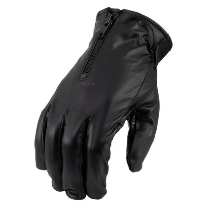 Men's XG2055 Black Winter Biker Leather Motorcycle Riding Gloves