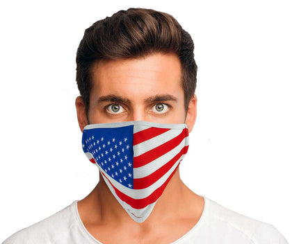 Xelement XS8001 USA Made 'American Flag' Protective Face Mask